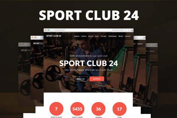 Sport Club 24 Sport Muse Template