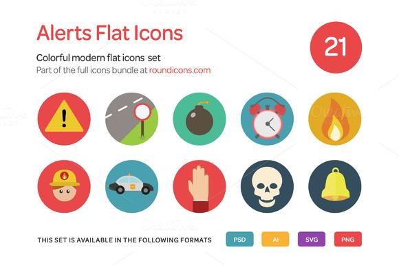 Alerts Flat Icons