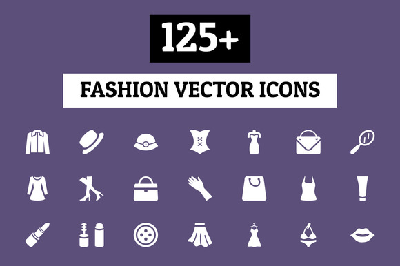 125 Fashion Vector Icons
