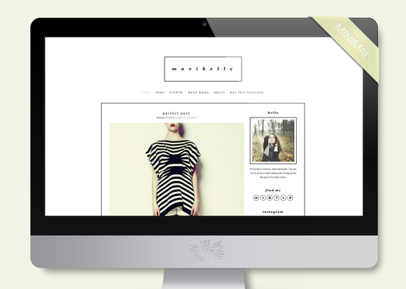 Maribelle Wordpress Blog Theme
