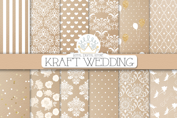 KRAFT WEDDING Digital Paper
