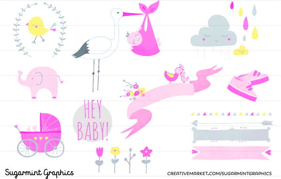 Clip Art Baby Shower Girl Commercial
