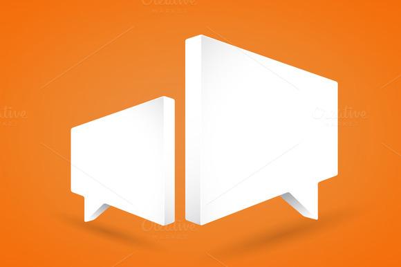 Speech Bubbles On Orange Background