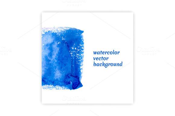 Vector Watercolor Square