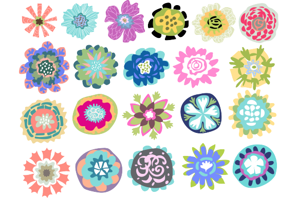 Flower Elements Logos 21 Vectors