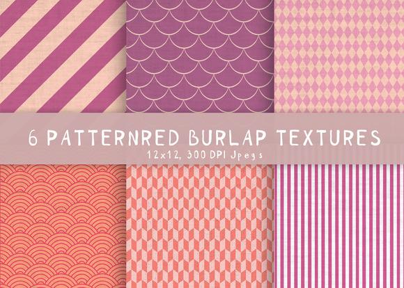 6 Burlap Patterned Textures