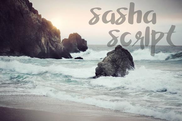 Sasha Script A Hand Painted Font