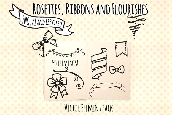 Ribbons Rosettes Flourishes Kit