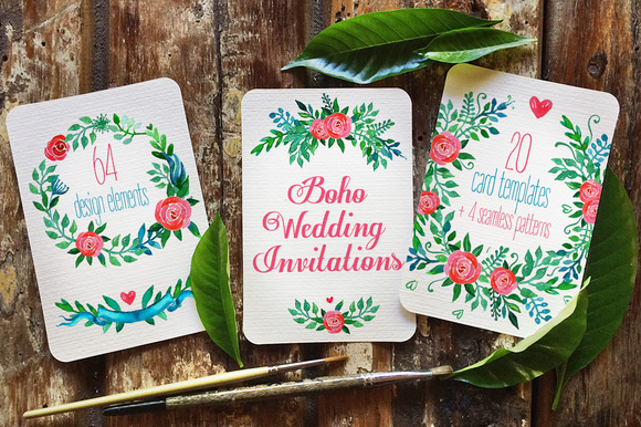Boho Wedding Invitations ROSES