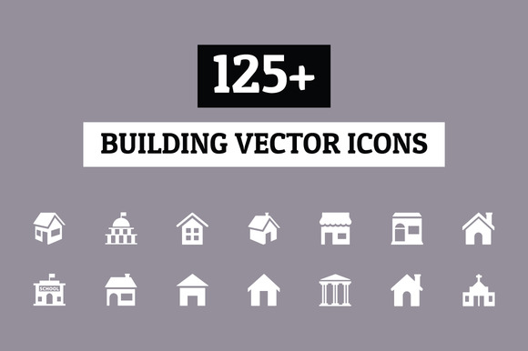 125 Building Vector Icons