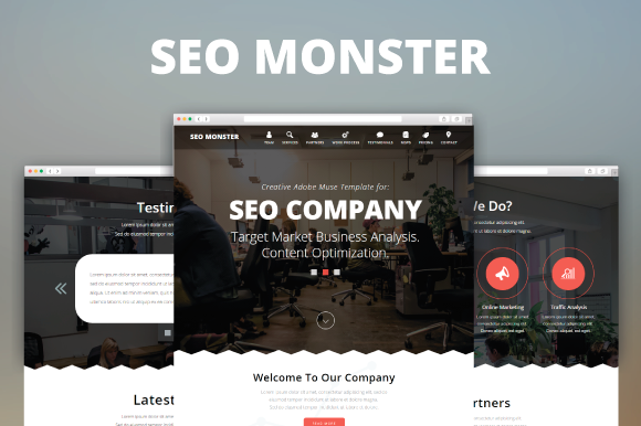 SEO Monster Creative Muse Template