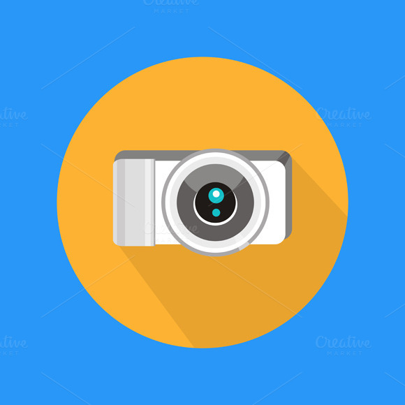 Set Photo Camera Icon