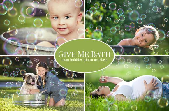 Give Me Bath Bubbles Overlays