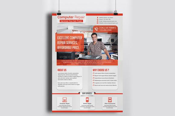 Computer Repair Service Flyer Templa