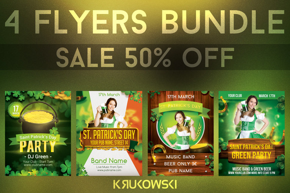 St Patricks Day Flyers Bundle