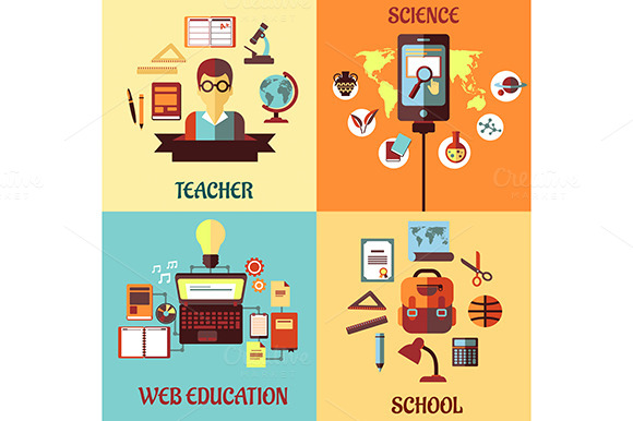 Flat Concept Web Education