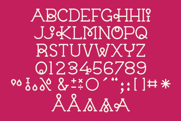 Vector Typeface Chloe