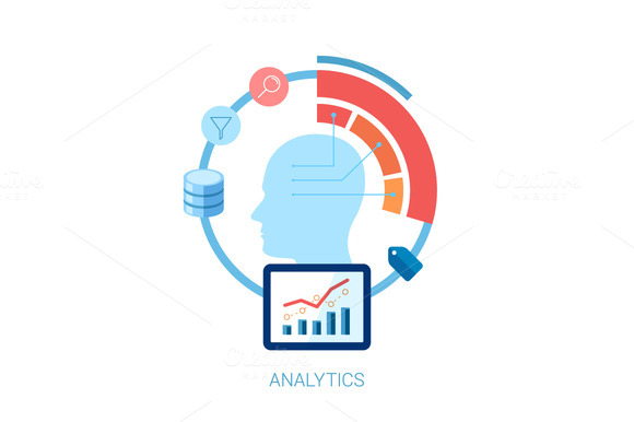 Flat Icon For Analytic Database
