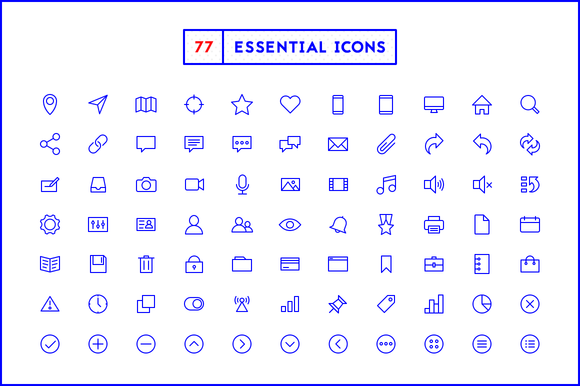 77 Essential Icons