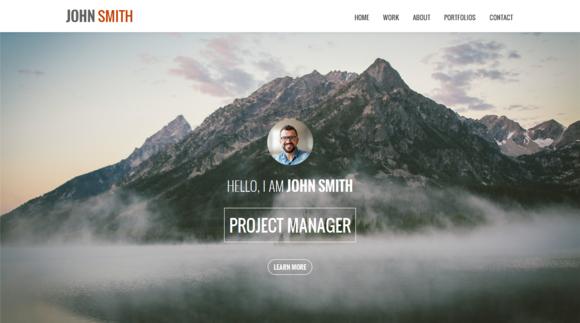 JOHN SMITH One Page Portfolio