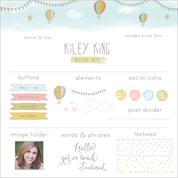 Hot Air Balloon Blog Kit Web Kit