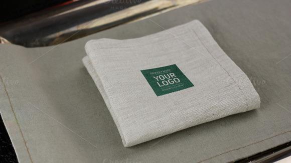 Natural Linen Napkin Mockup