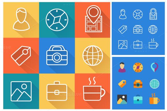 Set Icons Flat