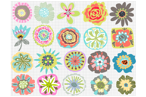 Flowers For Digital Patterns Icons