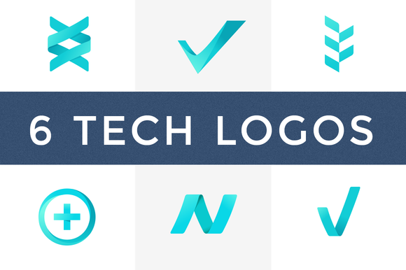 Technology Logo Templates 6 Pack