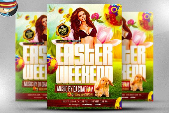 Easter Weekend Flyer Template