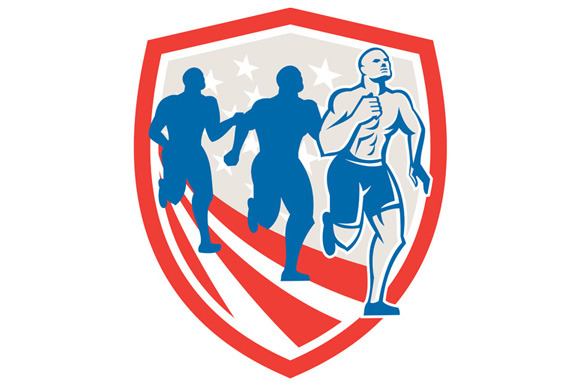 American Crossfit Runners USA Flag R