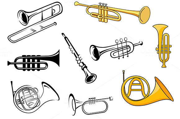 Wind Instruments In Sketches