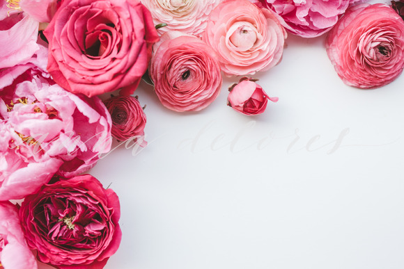 Styled Stock Photo Pink Flowers 3