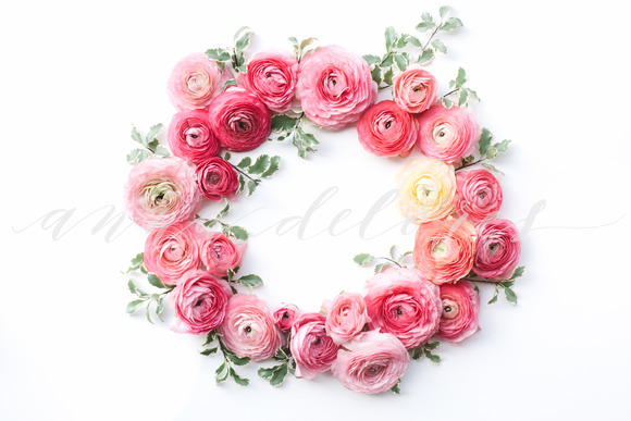 Styled Stock Photo Flower Wreath