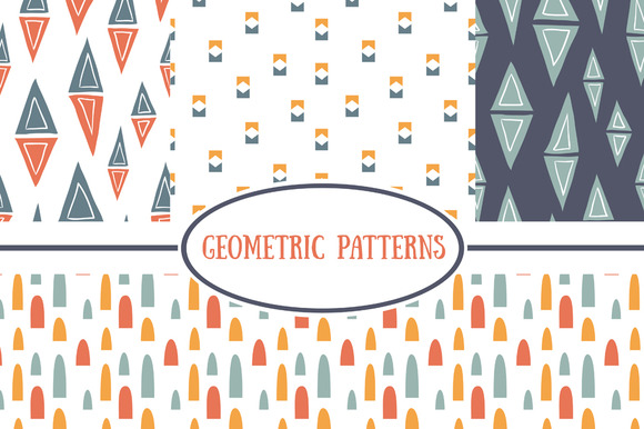 Set Of Geometric Simple Patterns