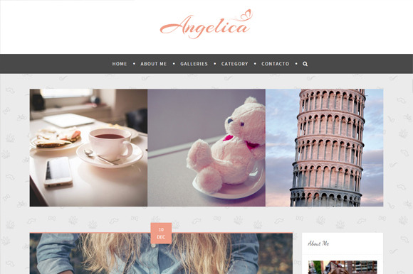 Angelica WP Personal Blog