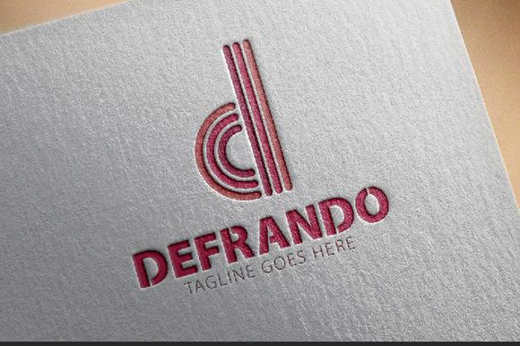 Defrando D Letter Logo