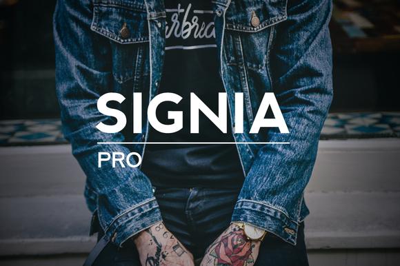 Signia Pro Modern Typeface WebFont