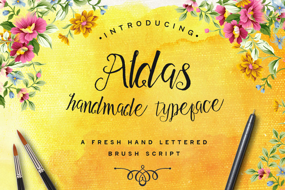 Aldas Typeface Illustration Pack