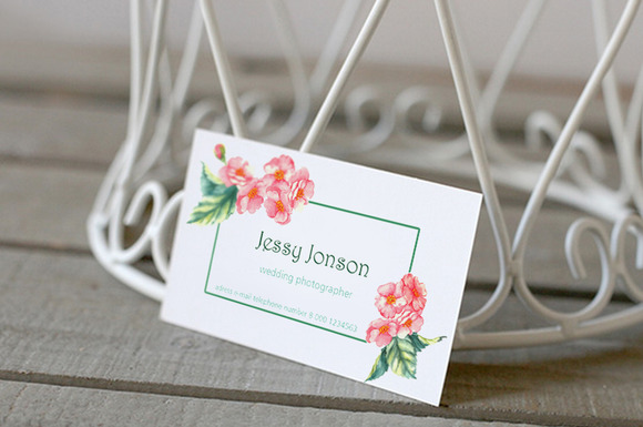 Floral Tender Business Card