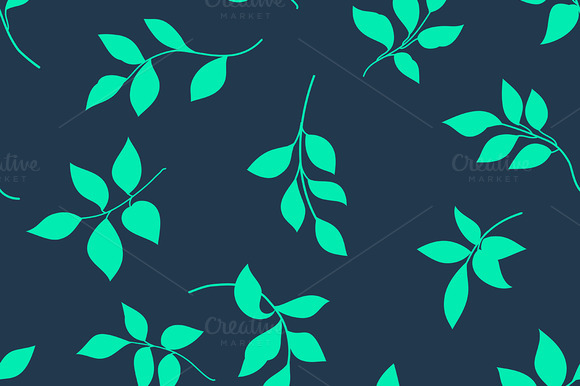 Grunge Seamless Pattern Of Leaves
