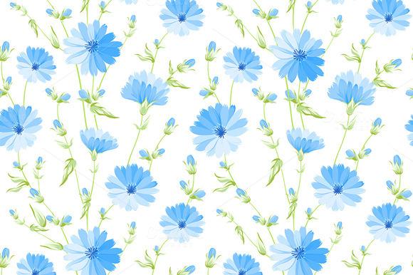 Chicory Seamless Pattern