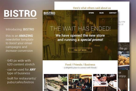 Bistro Food And Bar Email Template