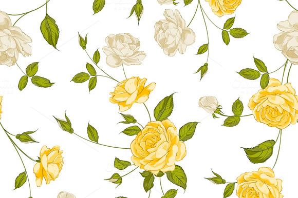 Roses Floral Background
