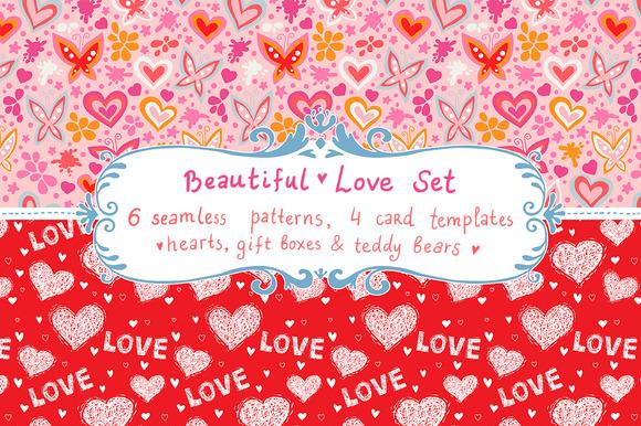 Love Set Patterns Cards