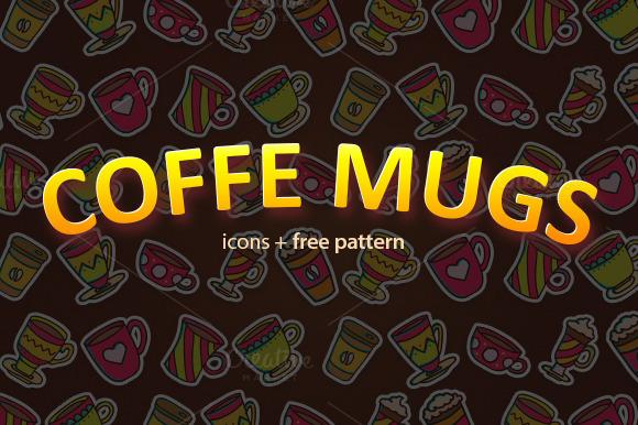 Coffe Mugs And Free Pattern