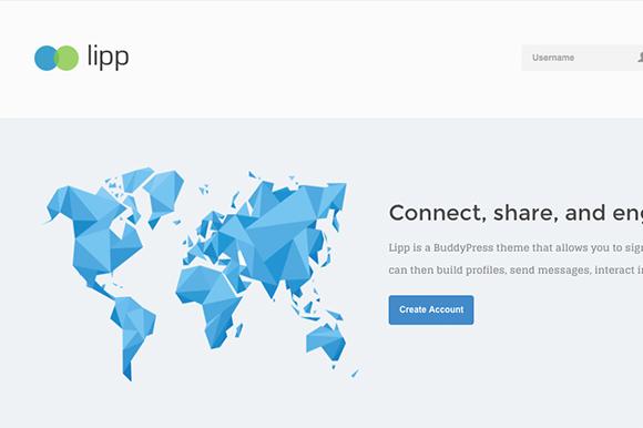 Lipp BuddyPress Theme