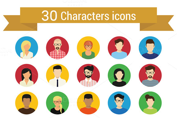 Characters Icons Set