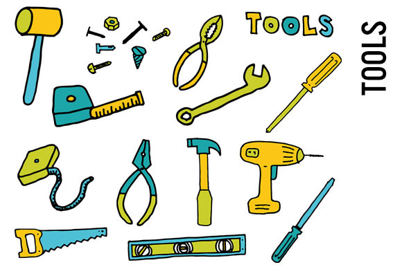 Tools Doodle Clipart