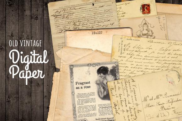 Old Torn Written Paper Vintage Antiq